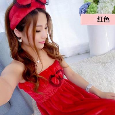 【卡萌丹】浴裙+束发带女士裹抹胸可穿浴巾浴裙蝴蝶结睡裙美容院