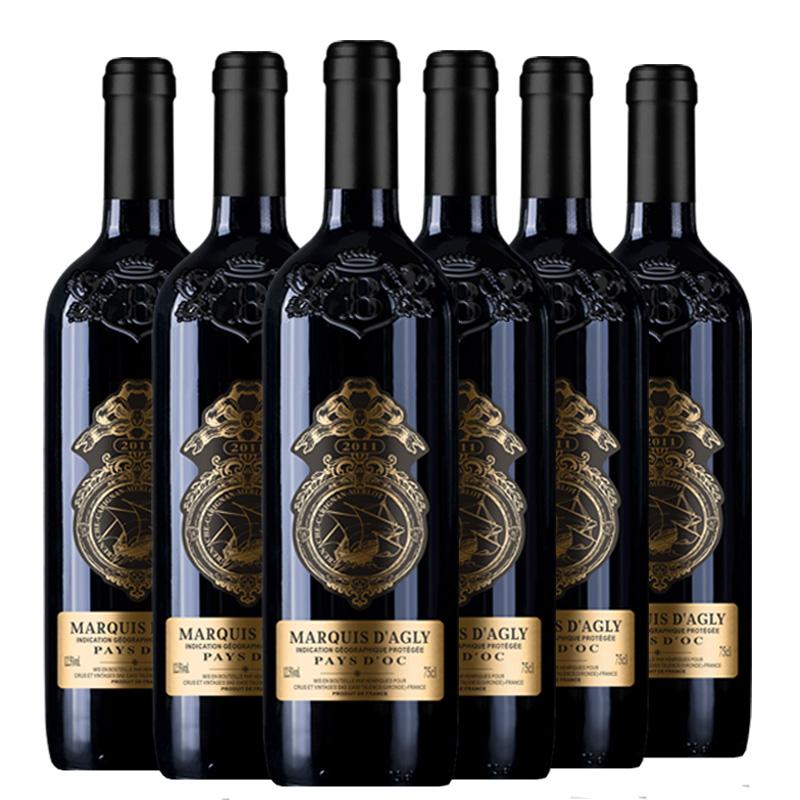 【艾丝菲尔】法国原瓶原装红酒进口干红葡萄酒750ml 6瓶