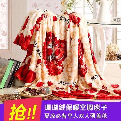 拉舍尔毛毯雪儿童床单长款水貂绒电毯子珊瑚绒毯婴儿小被毛毯加厚