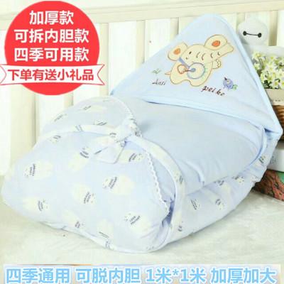 新生儿抱被春秋纯棉加厚儿童被子薄款小宝宝包被用品秋冬婴儿睡袋