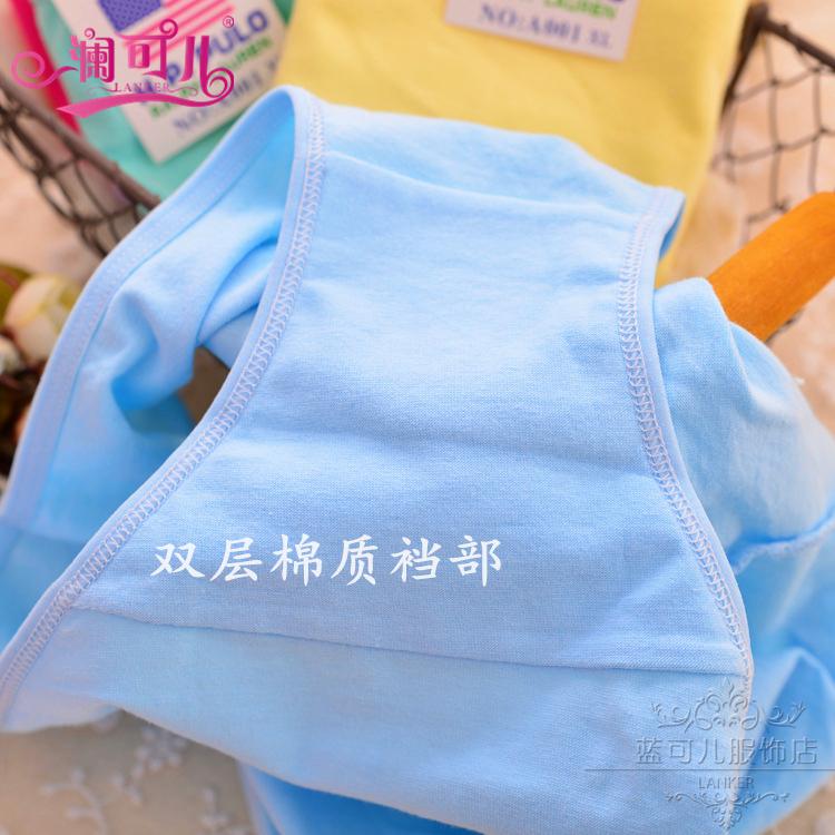 2-10条内裤女士纯色棉性感蕾丝学生少女式中低腰莫代尔大码200斤的细节图片4