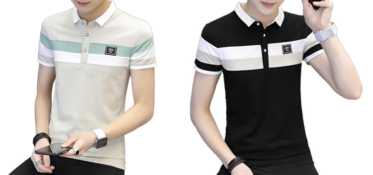 Men's Short Sleeve T-shirt Polo Shirt