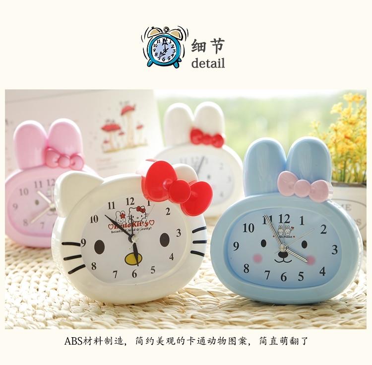 卡通闹钟时尚可爱时钟儿童学生卧室床头小闹表创意礼品台钟