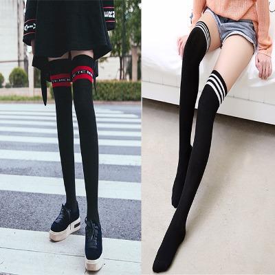 【三双装】过膝袜子女显瘦长筒袜瘦腿半截袜美腿高筒袜子