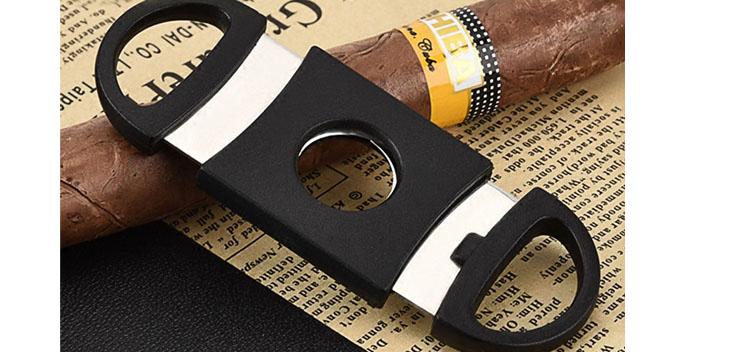 雪茄刀便携塑料双刃雪茄剪刀双刃锋利进口