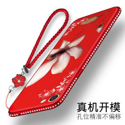 oppoA57手机壳OPPOA59S硅胶套A57M软A59防摔新款红A77t女韩潮水钻