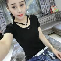 夏装新款短袖T恤女装韩版时尚修身大码显瘦上衣学生百搭打底衫潮